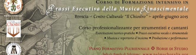 Bando 2015 Musica Rinascimentale Palma Choralis