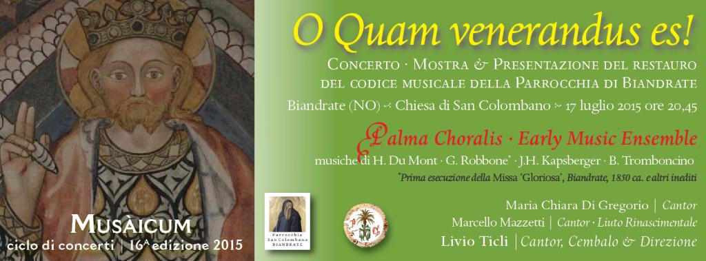 O quam venerandus es Palma Choralis