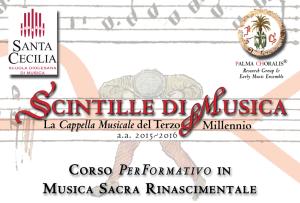 Scintille di Musica | Corso di Musica Sacra Rinascimentale
