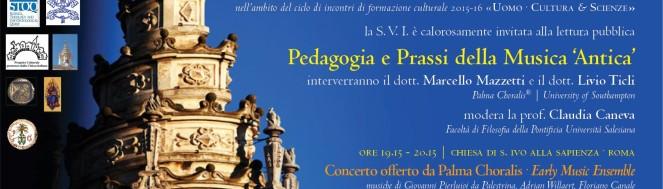 Pedagogia e Prassi della Musica Antica - Roma 2015