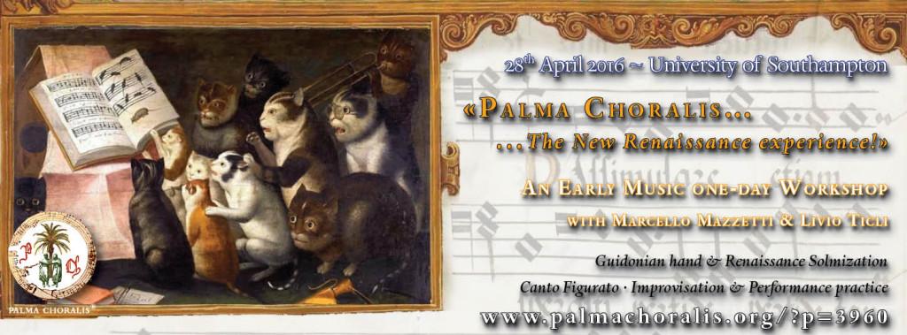Workshop Southampton 2016 Palma Choralis